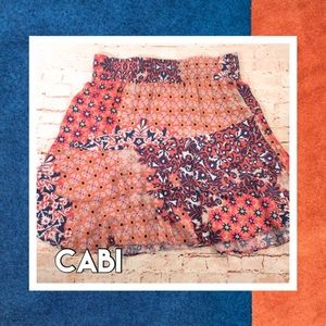 👗 CABI Ruffled Mini-Skirt